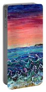 Rose Dusk Beach Portable Battery Charger