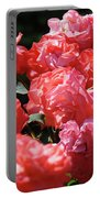 Rose Garden Art Prints Pink Red Rose Flowers Baslee Troutman Portable Battery Charger