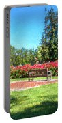 Rose Garden Benches Impressionist Digital Painting Portable Battery Charger