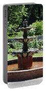 Rose Garden Fountain Portable Battery Charger