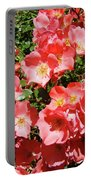 Rose Garden Pink Roses Botanical Landscape Baslee Troutman Portable Battery Charger