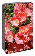 Rose Garden Pink Roses Botanical Landscape Baslee Troutman Portable Battery Charger