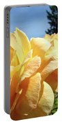 Rose Garden Yellow Peach Orange Roses Flowers 3 Botanical Art Baslee Troutman Portable Battery Charger