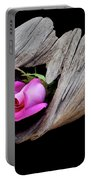 Rose In Driftwood 2 Portable Battery Charger