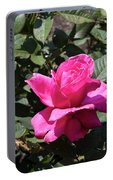 Rose In Flower Bed Portable Battery Charger