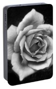 Rose In Mono. #flower #flowers Portable Battery Charger