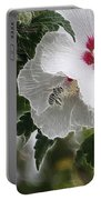 Rose Of Sharon And Bee Portable Battery Charger
