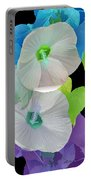 Rose Of Sharon Painted Portable Battery Charger