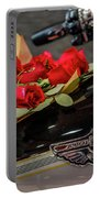 Harley Davidson And Roses Portable Battery Charger