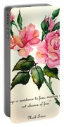 Rose Poem Portable Battery Charger