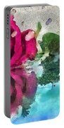 Rose Reflected Fragmented In Thick Paint Portable Battery Charger