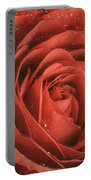Rose Waiting In The Rain Portable Battery Charger