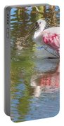 Roseate Spoonbill Young Adult Portable Battery Charger