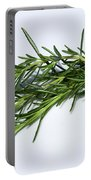 Rosemary Isolated On White Portable Battery Charger