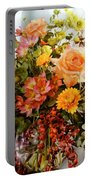 Roses And  Flowers  Portable Battery Charger