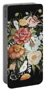 Roses And Poppies Bouquet Portable Battery Charger