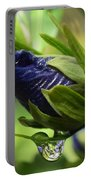 Rosebuds And Raindrops Portable Battery Charger