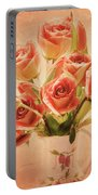 Roses And Tulips Portable Battery Charger