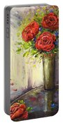 Roses And Woman Portable Battery Charger