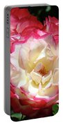 Roses Art Prints Pink White Rose Flowers Gifts Baslee Troutman Portable Battery Charger