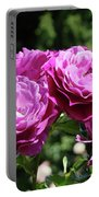 Roses Art Rose Garden Pink Purple Floral Prints Baslee Troutman Portable Battery Charger