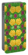 Roses Dancing On A Tulip Field Of Festive Colors Portable Battery Charger