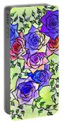 Roses Garden Portable Battery Charger