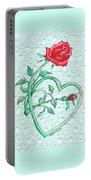 Roses Hearts And Lace Flowers Design  Portable Battery Charger
