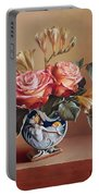 Roses In China Vase Portable Battery Charger