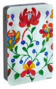 Roses In The Folk Style Portable Battery Charger
