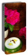 Roses In Vase And Bowl Portable Battery Charger