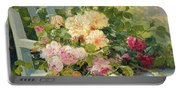 Roses On The Bench  Portable Battery Charger