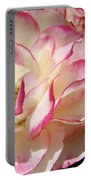 Roses Pink White Rose Flowers 4 Rose Garden Artwork Baslee Troutman Portable Battery Charger