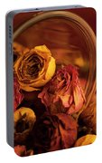 Roses Spilling Out Of Vase Portable Battery Charger