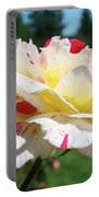 Roses White Pink Yellow Rose Flowers 3 Rose Garden Art Baslee Troutman Portable Battery Charger