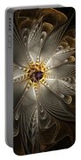 Rosette In Gold And Silver Portable Battery Charger