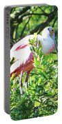 Rosette Spoonbill Portable Battery Charger