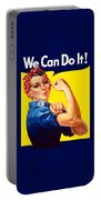 Rosie The Rivetor Portable Battery Charger by War Is Hell Store