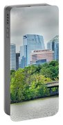 Rosslyn Distric Arlington Skyline Across River From Washington D Portable Battery Charger