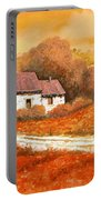 Rosso Papavero Portable Battery Charger by Guido Borelli