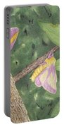 Rosy Maple Moth Gathering Portable Battery Charger