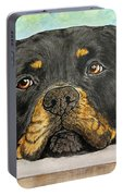 Rottweiler's Sweet Face 2 Portable Battery Charger
