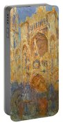Rouen Cathedral, Facade, Sunset Portable Battery Charger