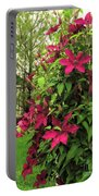 Rouge Cardinal Clematis 2 Portable Battery Charger
