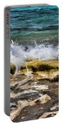 Rough Seas At Blowing Rock Portable Battery Charger