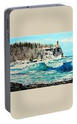 Rough Water At Split Rock Portable Battery Charger