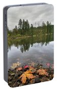 Round Lake At Lacamas Park In Fall Portable Battery Charger