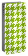 Rounded Houndstooth White Pattern 09-p0123 Portable Battery Charger