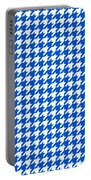 Rounded Houndstooth White Pattern 18-p0123 Portable Battery Charger