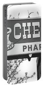 Route 66 - Chenoa Pharmacy Bw Portable Battery Charger
